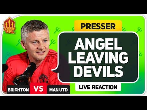Angel Gomes Leaves! Solskjaer Press Conference Reaction! Brighton vs Manchester United Man Utd News