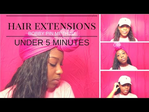 Hair Extensions Under 5 Minutes-Bobby Pin Method