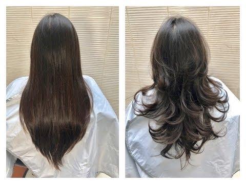 Corte de pelo de capas largas