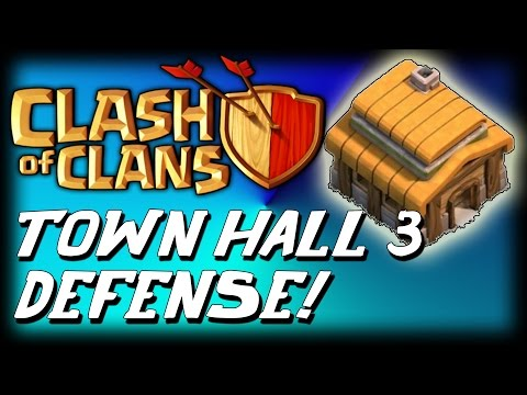 Clash Of Clans - Best Town hall 3 defense strategy + defense clips
