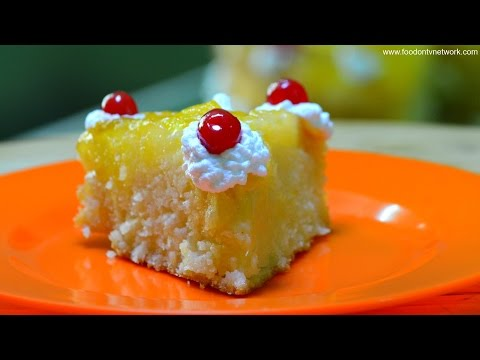 Pineapple Upside Down Cake | Indian Cake Recipe with a twist
