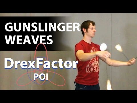 How to do Gunslinger Weaves: Poi Gunslingers 101 Tutorial