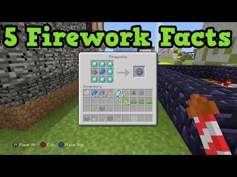 Minecraft Xbox 360 / PS3 5 Firework Fun Facts
