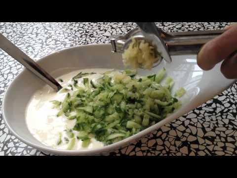 Gyro Sauce Recipe - How To Make Tzatziki