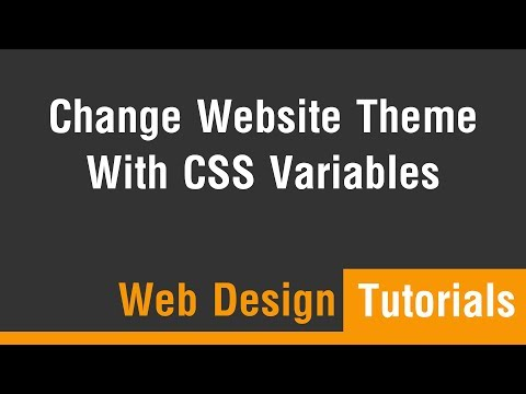 Arabic Tutorials - Change Website Color Theme With CSS Variables