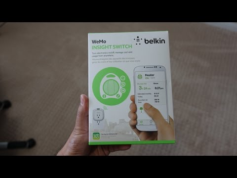 WeMo Insight Switch Unboxing