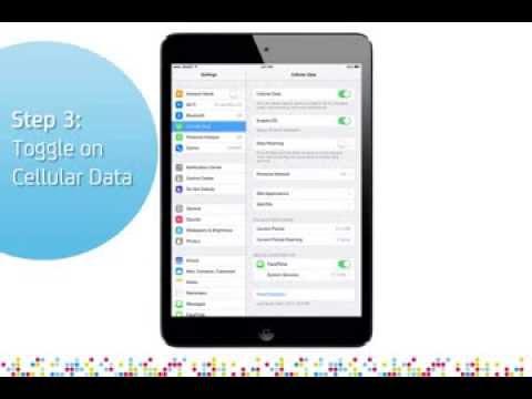 iPad Mini: Turn on/off data services