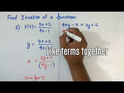 Relation and Function: How to Find Inverse of a Function #1