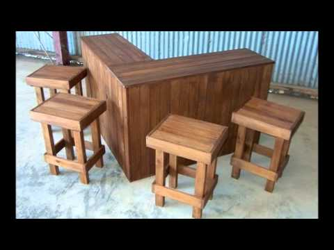 Party lovers! Designer Outdoor Bar + 5 x stools set