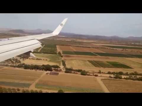 Landing into La Paz, BCS, Mexico - Manuel Márquez de León Airport