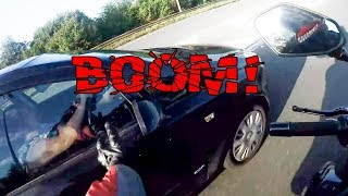 EXTREMELY STUPID, CRAZY & ANGRY PEOPLE vs BIKERS | LOTS OF MIRROR SMASHES  |  [Ep. #105]
