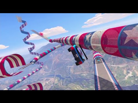 GTA 5 USA Patriotic Tribute Stunt Race