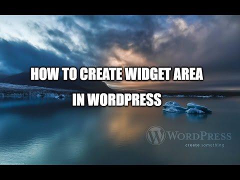 how to create widget area in wordpress