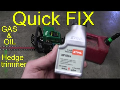 how to gas and  oil hedge trimmer