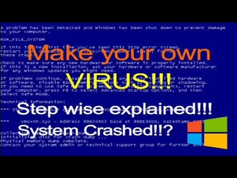 HOW TO MAKE YOUR OWN COMPUTER VIRUS!!! - (Beginner) | TechWagon