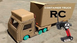 Wow! Amazing RC Container Truck DIY at Home - Remote Control ContainerTruck