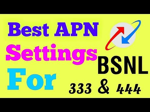 FASTEST and  Best APN settings for BSNL 3G 333 & 444 plan | Updated