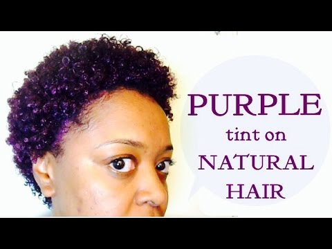 PURPLE RAGE!!! Purple (Eggplant) Tint on Natural Hair - Adore Semi-Permanent | The Curly Closet