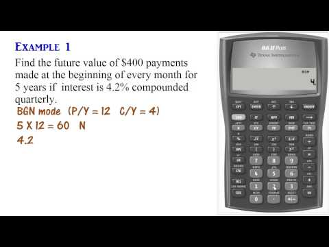 Annuity Due Calculations Using BA II Plus