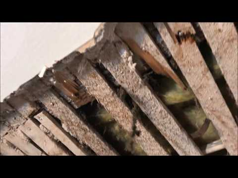 Large Hole in Lath and Plaster Ceiling