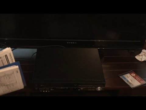 Panasonic DMR-EZ48V VHS/DVD Recorder, HDMI,1080p up convert, remote/manual cords