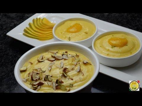 Mango sour cream Dessert - Amrakhand recipe  - By Vahchef @ vahrehvah.com