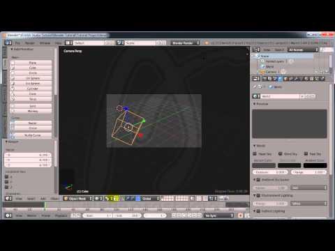 Blender Basic Tutorial, 2, About Blender Interface