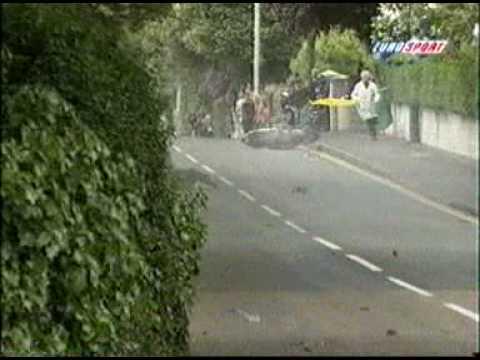 Biker loses control. Speed wobbles