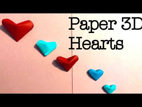 3d Paper hearts how to make paper heart in hindi paper heart for valentine