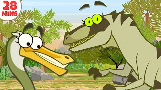 Dinosaurs Cartoons For Kids To Learn & Enjoy   Learn Dinosaur Facts by HooplakidzTV