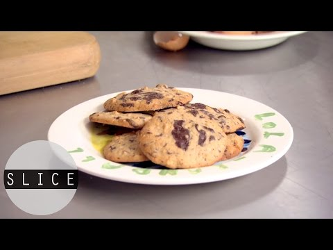 Quick Chocolate and Almond Cookies Recipe | SLICE