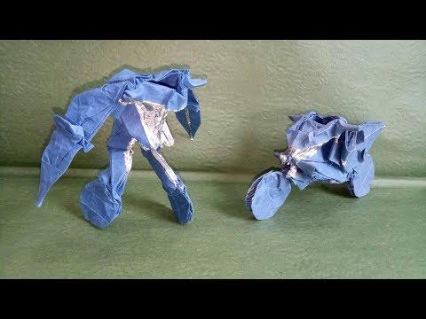 Origami creative : Transfomer - motorbike