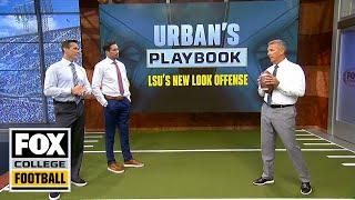 Urban Meyer breaks down LSU's passing offense & QB reads | URBAN'S PLAYBOOK | FOX COLLEGE FOOTBALL