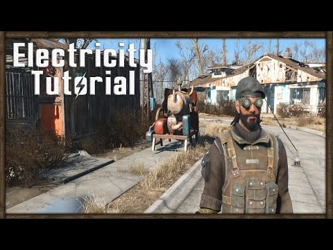 Fallout 4 POWER TUTORIAL - How To Power Your Home With Electricity!