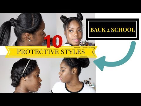 Heatless Protective Hairstyles  for Back to School Straight Hair   Relaxed Hair