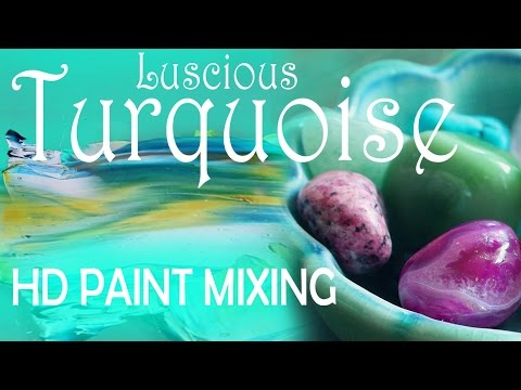 HD Paint mixing - 'Luscious Turquoise' colour