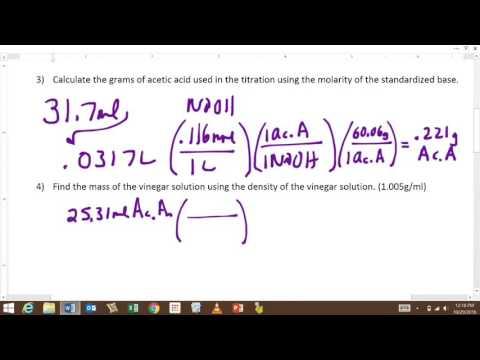 Vinegar Titration Calculations