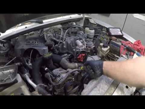 How to replace the thermostat housing on a ford 4.0 v6