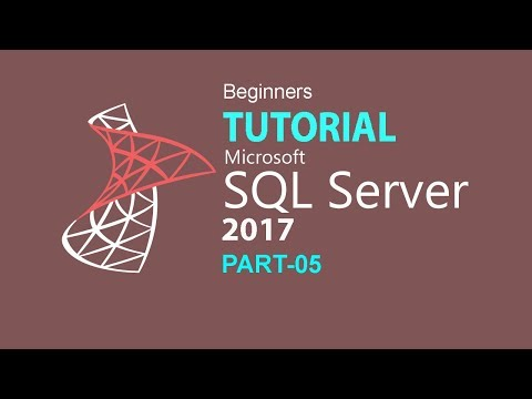 SQL SERVER 2017 TUTORIAL: PART 05 (STORED PROCEDURE)