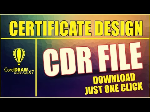 Coreldraw x7 Tutorial - How to Download AS GRAPHICS New CERTIFICATE Design CDR File