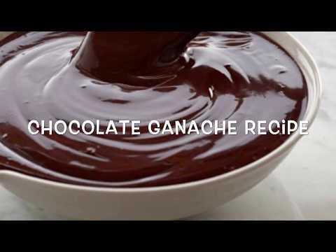 EASY & FAST CHOCOLATE GANACHE RECIPE