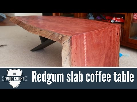 104 Redgum Slab Coffee Table