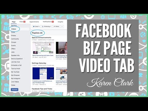 Exploring Your Facebook VIDEOS Tab (Facebook Business Pages) Social Media Marketing