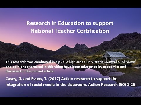 Teaching with Social Media - Research for NESA NSW Teacher Accreditation Highly Accomplished & Lead