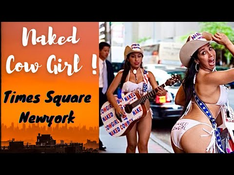 Naked CowBoy CowGirl Times Square New York *HD*