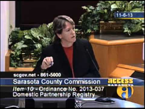 Orlando Civil Rights Attorney Mary Meeks Addresses the Sarasota County Commission