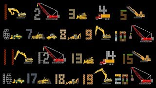 Vehicles Counting Collection - Construction Counting to 20, Count to 100 - The Kids