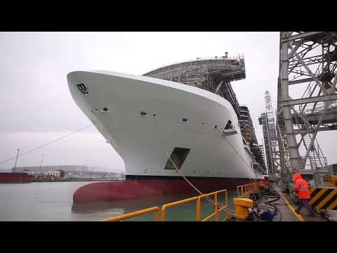 Inside the Construction of a Cruise Ship