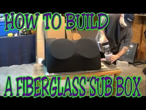 12 inch sub box part 2 custom fiberglass speakerbox