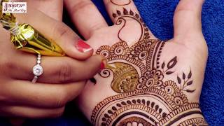 Latest mehndi design for hands | New mehandi design with flowers and dots | mehndi design #146
